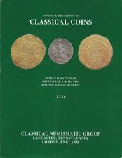CNG CLASSICAL NUMISMATIC GROUP CATALOG XXXI CLASSICAL COINS 9/10 SEPTEMBER 1994