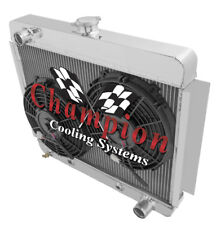 "4 Row DR Champion Radiator W/ 2 10"" Fans for 1966 1967 Chevrolet Nova V8 Conv"