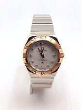 Omega Constellation Diamond Double Eagle Ladies Steel & 18k Gold Watch (4602)