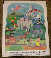 "Disneyland 60th Anniversary Prints - Set of 6 8.5"" x 11"" collectible prints NEW"