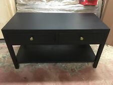 BESPOKE H50 W90 D40 COFFEE Table unit TV stand Lounge 2 Drawer Black Satin