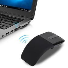 Wireless Folding Optical Arc Touch Mouse Bluetooth Receiver 1600DPI for Laptop