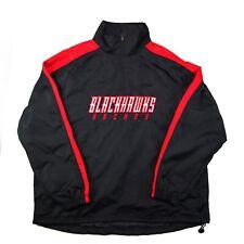Chicago Blackhawks Black Nhl Hockey Light Pullover 1/4 zip Mens L Jacket