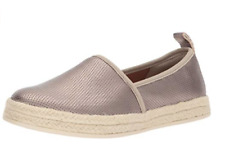 Clarks Women's Azella Revere Pewter Metalic Slip On Shoes 26134282