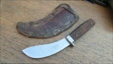 Old Antique RUSSELL GREEN RIVER WORKS Bolstered Skinning Hunting Knife w/Sheath