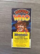 Dr Who Weetabix Cards Vintage 1977 Uncut
