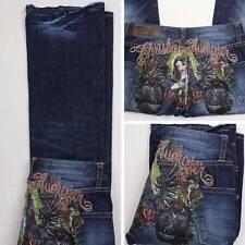 CHRISTIAN AUDIGIER Tattoo Inspired Jeans Virgin Mary 26.5 x 30.75