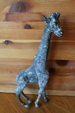 "Bronze Giraffe Statue 12-3/4"" tall Vintage Hand made sculpture etched Safari"
