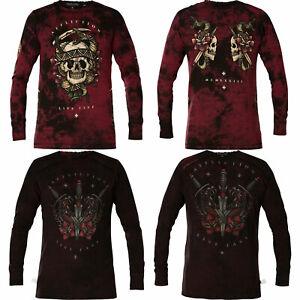 Affliction MEDUSA'S REVENGE Mens XXL Long Sleeve T shirt NEW 2XL Tee A21426