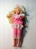 Stacie doll Barbie's Littlest Sister hot pink SUIT WITH WHITE RUFFEL HAT VINTAGE