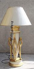 Luxus Lampe Löwe Blattgold Tischleuchte Tischlampe Schreibtischlampe Stehlampe