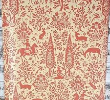 2 ROLL LOT York Wallcoverings Animal Woodland Red Cream Designer Wallpaper Diy
