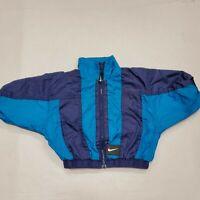 Vintage Nike Blue Full Zip Lightweight Jacket Infant Toddler 12 Months Good Cond