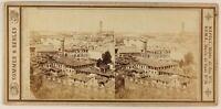 Firenze S.Miniato Italia Foto Sommer & Behles Stereo PL56L Vintage Albumina