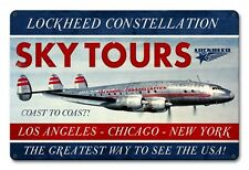 "TWA Lockheed Constellation Sky Tours Metal Sign LM003 17 1/2"" x 11 1/2"""