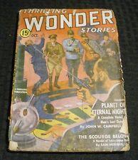 1939 Oct THRILLING WONDER STORIES Pulp Magazine v.14 #2 GD+ 2.5 John Campbell