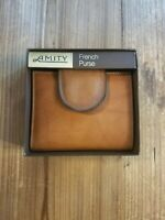 Leather Wallet, Amity, French Purse Vintage! In box!