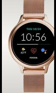 Fossil Gen 5e Armbanduhr Ftw6068 Damen Smartwatch  neu mit Etikett Rosefarben