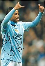 """Genuine Hand Signed Autograph Photo MANCHESTER CITY Robinho Photograph 11.5 x 8"""""""