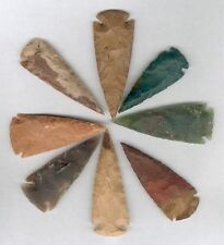 "25 KNAPPED 2 3/4"" to 3 1/2"" NEW AGATE ARROWHEADS FOR RESALE, CRAFTS, COLLECTING"