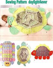 Kid Throw Blanket Rag Quilt Turtle Dinosaur Caterpillar Sewing Pattern 2493 #i