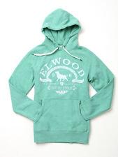 Elwood Men's Sons of Hoody Fleece Pullover Jumper Sweater Green Marle Size S-XXL
