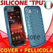 Cover Custodia Gel Azzurro Per Samsung Galaxy S i9000 e i9001 Plus silicone