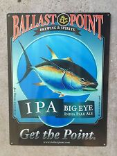 Ballast Point Big Eye IPA Tuna Fish Craft Beer Brewery Vintage Ad Metal Sign