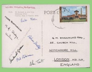Nepal 1975 Durham University Himalayan Expedition multi signed postcard