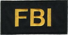 "2"" x 4"" Tactical Black FBI F.B.I. Embroidered Iron on Sew On Patch"
