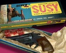 SUSY EDISON GIOCATTOLI FASCHING CARNIVAL REVOLVER WICKE KNALLPISTOLE 70er in BOX