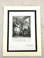 1934 Francese Incisione Stampa Attrice Ballerina Teatro Opera Scena Balcone