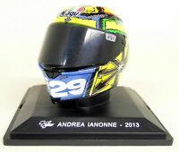 Altaya 1/5 Scale - Andrea Lanonne 2013 AGV Moto GP Helmet with Plinth and Case