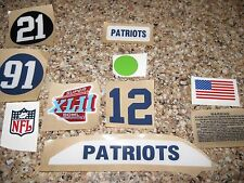 football helmet decals New England Patriots SB42 custom helmet decal setup