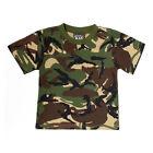 Bambini Mimetico Militare T-Shirt- Età 3-13 Anni 100% Cotone Camouglafe