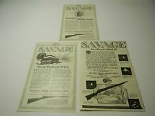 Vintage 1920s Savage Arms Company Rifle Lot of 3 Ads Man Cave Print Ad - 1L
