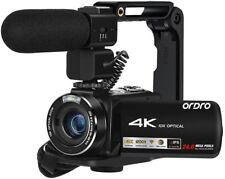 Videocamera 4K, Touch Screen ad Ultra Alta Definizione ORDRO IPS da 3,1 Pollici