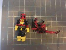 Lot of 2 Marvel Deadpool 2 Desk Buddy Deadpool X-Men Minimates
