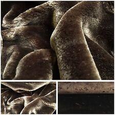 Kuscheliges Langhaar Kunstfell Stoff Webpelz Nerz Pelz Dark Braun New Boa Brown