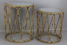 Kare Design 2 Set Beistelltisch Bamboo Loop Nesting Table Spiegel Tisch E1-KB
