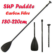 Carbon Fibre Telescopic 3 Piece Kayak SUP Stand Up Paddle Board Paddle 180-220cm