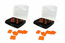 2 X COMPARTMENT TACKLE BOX TOOL ORGANISER STORAGE SCREW NUT BOLT CARRY CASE