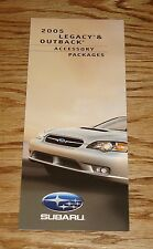 2005 Subaru Legacy & Outback Accessory Packages Foldout Sales Brochure 05