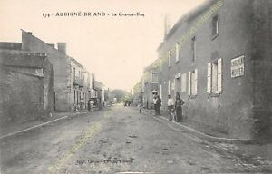 CPA 49540 AUBIGNé BRIAND la Grande Rue Edit GOUBIN FAURE