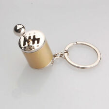 Gold Gear Shift 6-Speed Manual transmission Turbo Keychain Keyring Key Ring