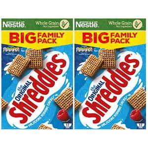 Nestle Shreddies The Original Breakfast Cereal Fibre WholeGrain 700g 1 or 2 Box