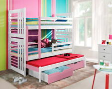 Bunk Bed ROLAND 3 WITH MATTRESSES Custom Triple bed for Kid's Childrens Bedroom