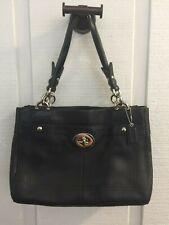 COACH Penelope Black Pebbled Leather Shoulder Bag Handbag F16531 EUC MINT