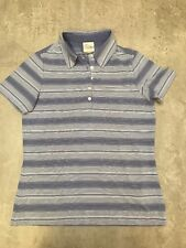Nike Golf Ladies Blue Stripe Polo Top Size Large