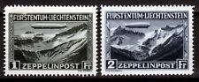 Liechtenstein 114-15 **, Luftschiff Graf Zeppelin, sign.